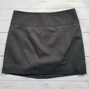 Express Cotton Spandex Charcoal Gray Mini Skirt 00